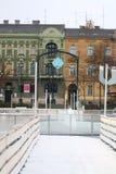 Invierno en Zagreb fotografía de archivo