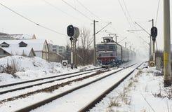 Invierno extremo en Europa imagenes de archivo