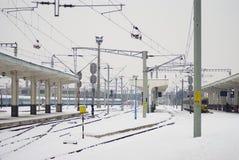 Invierno extremo en Europa Foto de archivo libre de regalías