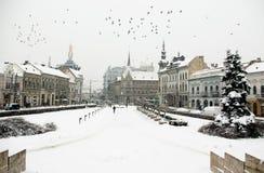 Invierno extremo en Europa Imagen de archivo libre de regalías