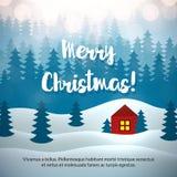 Invierno Forest Background de la Feliz Navidad Imágenes de archivo libres de regalías