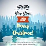 Invierno Forest Background de la Feliz Navidad Imagenes de archivo