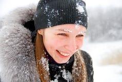 Invierno frío, nieve fría Imagen de archivo
