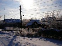 Invierno helada fotografía de archivo libre de regalías