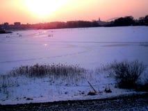 Invierno Iceskating Imagen de archivo