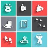 Invierno icons2. Imagen de archivo libre de regalías