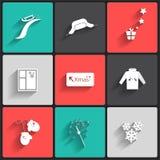 Invierno icons3 Foto de archivo libre de regalías