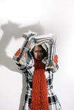 Invierno: La mujer soporta 17 por Año Nuevo Fotografía de archivo libre de regalías