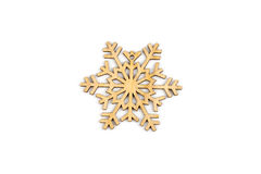 Invierno, la Navidad, decoración de madera del Año Nuevo - copo de nieve, estrella Foto de archivo