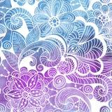 Invierno Lacy Pattern del vector en fondo de la acuarela libre illustration