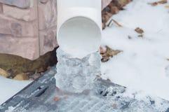 Invierno lineated estorbado con hielo del hielo Fotografía de archivo libre de regalías