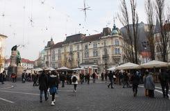 Invierno Ljubljana Imagen de archivo