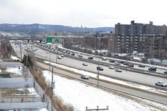 Invierno mágico en Montreal Canadá Imagen de archivo