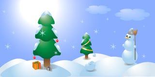 Invierno, mañana y nieve. libre illustration