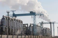 Invierno Mangistau de la fábrica Fotografía de archivo libre de regalías