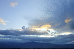 Invierno meridional del desierto de Mojave, CA Foto de archivo libre de regalías
