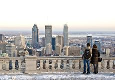 Invierno Montreal Foto de archivo libre de regalías