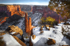 Invierno, monumento nacional de Canyon de Chelly, Arizona Imagenes de archivo