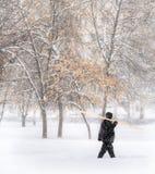 Invierno Nevadas en la ciudad Imagen de archivo