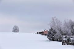 Invierno Nevado en un pueblo Fotos de archivo
