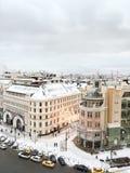 Invierno Nevado sobre Moscú Imagen de archivo libre de regalías