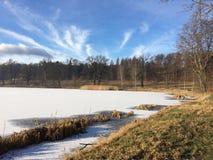 Invierno/otoño del lago imagen de archivo