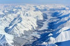 Invierno Oymyakon Yakutia de una vista panorámica fotos de archivo