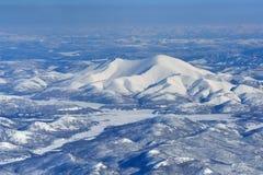 Invierno Oymyakon Yakutia de una vista panorámica imágenes de archivo libres de regalías