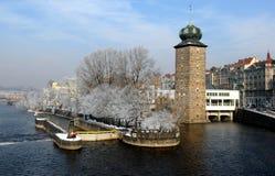 Invierno Praga Fotografía de archivo