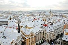 Invierno Praga foto de archivo libre de regalías