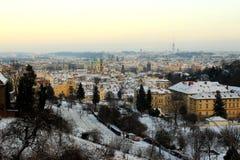 Invierno Praga Imagen de archivo libre de regalías