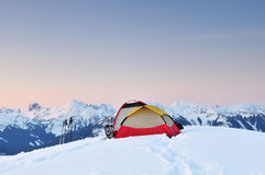Invierno que acampa en la punta de Huntoon en el artista Ridge Imagenes de archivo