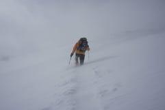 Invierno que camina con los zapatos de la nieve Fotografía de archivo libre de regalías
