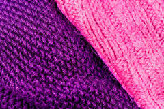 Invierno que hace punto el fondo de lana de la textura Hor hecho punto colorido Foto de archivo