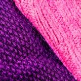 Invierno que hace punto el fondo de lana de la textura Hor hecho punto colorido Imagenes de archivo