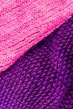 Invierno que hace punto el fondo de lana de la textura Hor hecho punto colorido Fotos de archivo libres de regalías