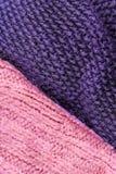 Invierno que hace punto el fondo de lana de la textura Hor hecho punto colorido Fotografía de archivo libre de regalías