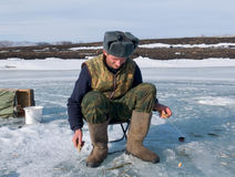 Invierno que pesca 15 Imagen de archivo libre de regalías