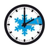 Invierno - retraso de tiempo detrás - ejemplo del vector - aislado en blanco libre illustration