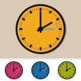 Invierno - retraso de tiempo detrás - ejemplo del vector - aislado en blanco stock de ilustración