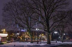 Invierno Riga en el 31 de diciembre de 2014 Fotografía de archivo