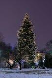 Invierno Riga en el 31 de diciembre de 2014 Fotos de archivo