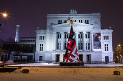 Invierno Riga en el 31 de diciembre de 2014 Imágenes de archivo libres de regalías