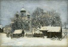 Invierno ruso stock de ilustración