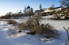 Invierno santo del monasterio de Bogolyubovo Fotografía de archivo