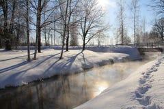 Invierno Sola Imagen de archivo