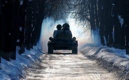 Invierno T-34 Imagen de archivo libre de regalías