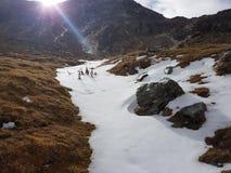 Invierno temprano en la montaña Fotos de archivo libres de regalías