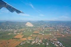 Invierno verde aéreo de Ibiza Imagen de archivo