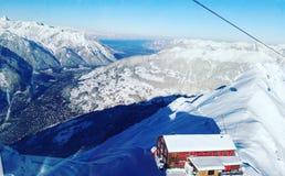 Invierno Vorarlberg Hochjoch/Montafon Fotografía de archivo libre de regalías